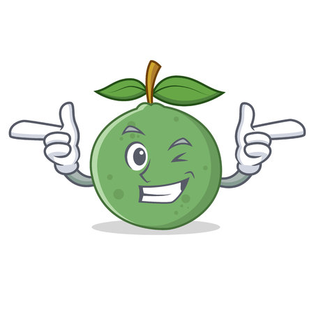 Wink guava character cartoon style