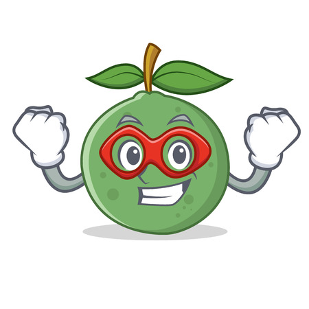 Super hero guava character cartoon style