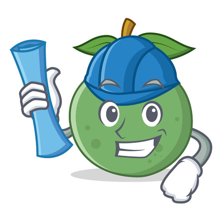 Architect guava character cartoon style Ilustração