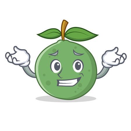 Grinning guava character cartoon style