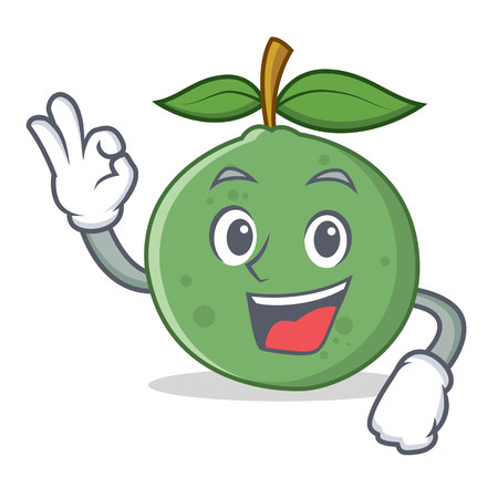 Okay guava character cartoon style