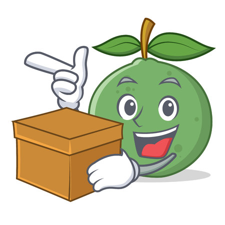 With box guava character cartoon style