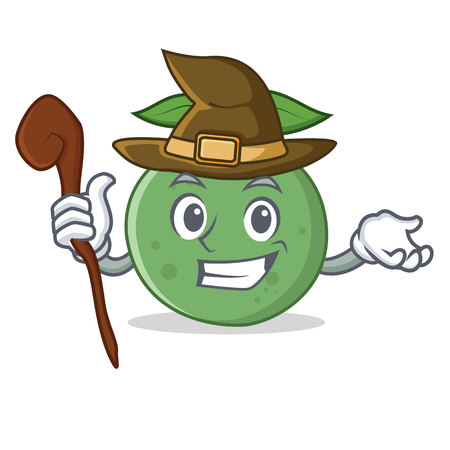 Witch guava mascot cartoon style vector illustration