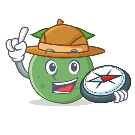 Explorer guava mascot cartoon style vector illustration