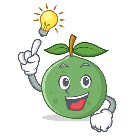 Have an idea guava mascot cartoon style vector illustration Illustration