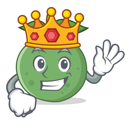 King guava mascot cartoon style vector illustration