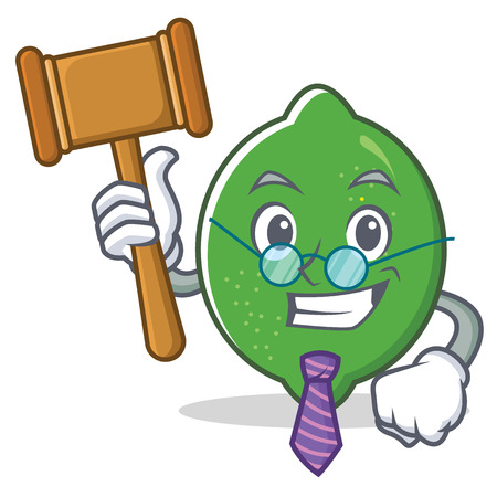 Judge lime mascot cartoon style vector illustration