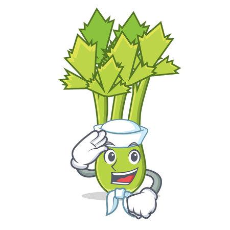 Sailor celery character cartoon style