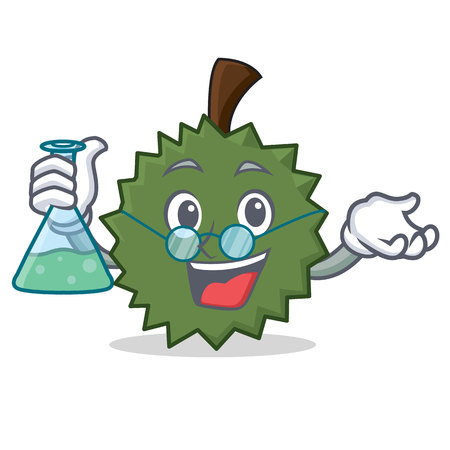 Professor Durian character cartoon style vector illustration Illustration