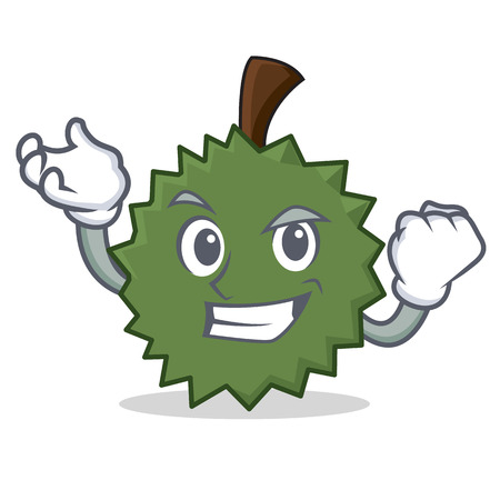 Successful Durian character cartoon style vector illustration