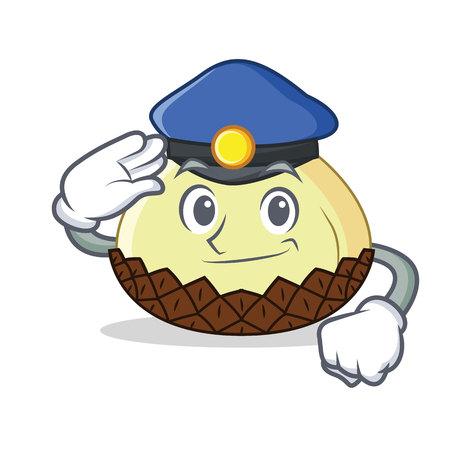 Police snake fruit character