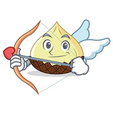 Cupid snake fruit character cartoon vector illustration
