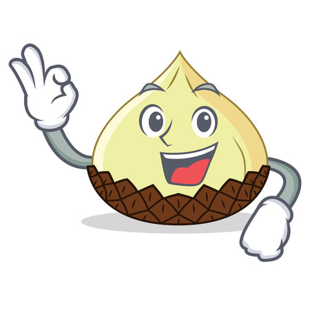 Snake fruit character cartoon illustration gesturing OK sign. Illustration