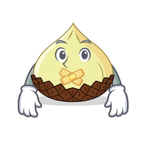 Silent snake fruit mascot cartoon
