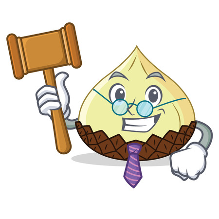 Judge snake fruit mascot cartoon illustration. Illustration