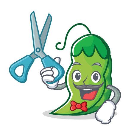 Barber peas character cartoon style