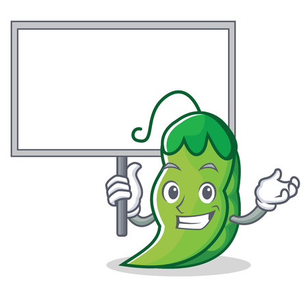 Bring board peas character cartoon style