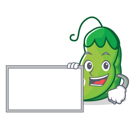 With board peas character cartoon style vector illustration  イラスト・ベクター素材