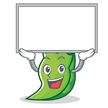 Up board peas character cartoon style vector illustration