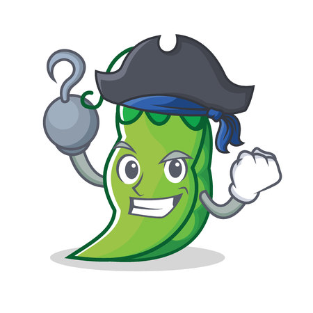 Pirate peas character cartoon style
