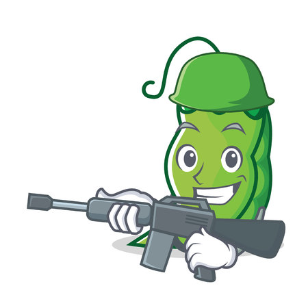 Army peas character cartoon style