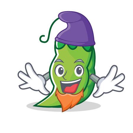 Elf peas character cartoon style