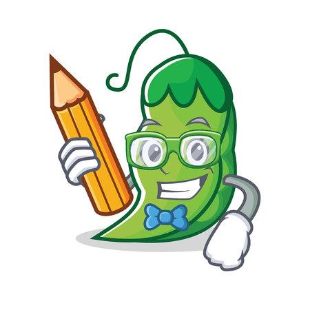 Student peas character cartoon style vector illustration  イラスト・ベクター素材