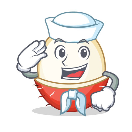 Sailor rambutan character cartoon style