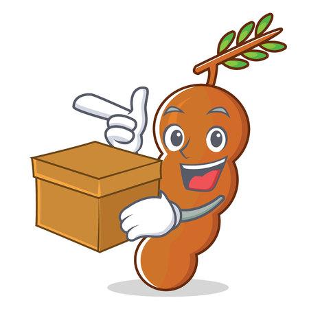 With box tamarind character cartoon style