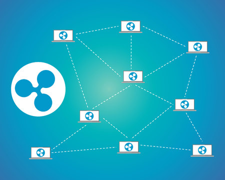 Ripple connection block-chain background style