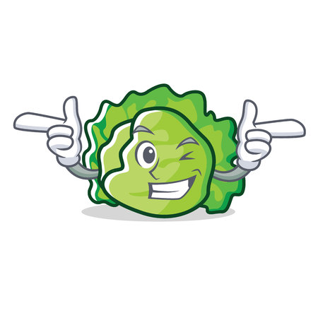 Wink lettuce character cartoon style