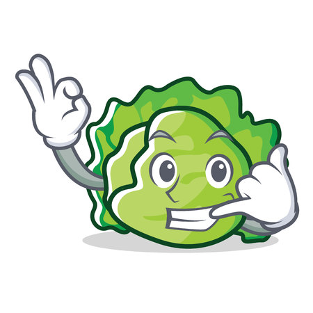 Call me lettuce character mascot style