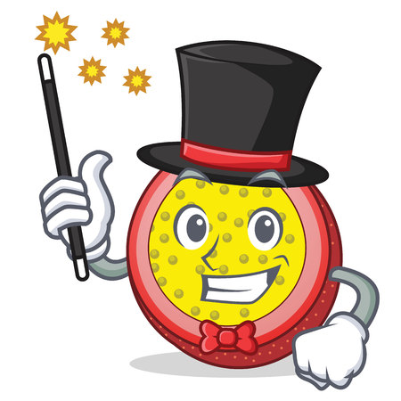Magician passion fruit mascot cartoon