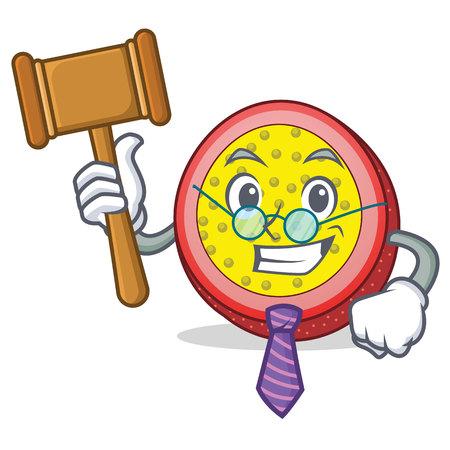 Judge passion fruit mascot cartoon Illustration