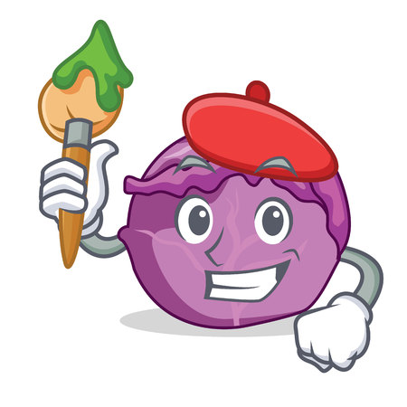 Artist red cabbage character cartoon