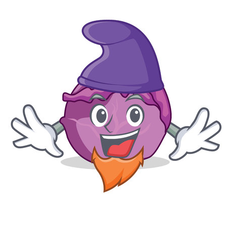 Elf red cabbage character cartoon Illustration