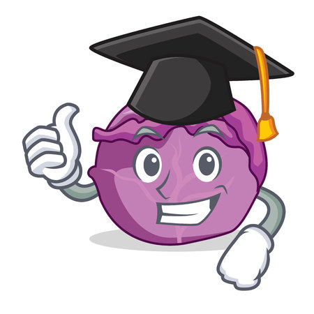 Graduation red cabbage character cartoon Standard-Bild - 93845264