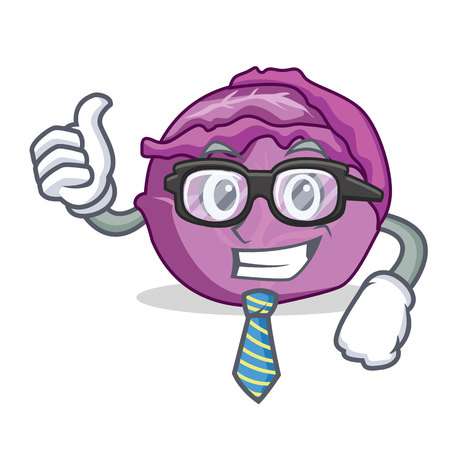 Businessman red cabbage character cartoon