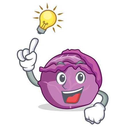 Have an idea red cabbage mascot cartoon Illusztráció