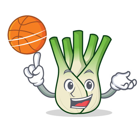 With basketball fennel character cartoon style.
