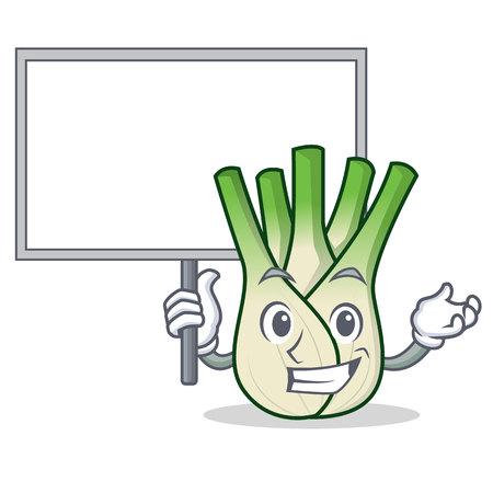 Bring board fennel character cartoon style.