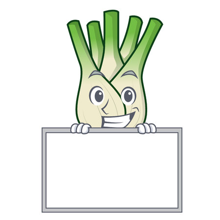 Grinning with board fennel character cartoon style