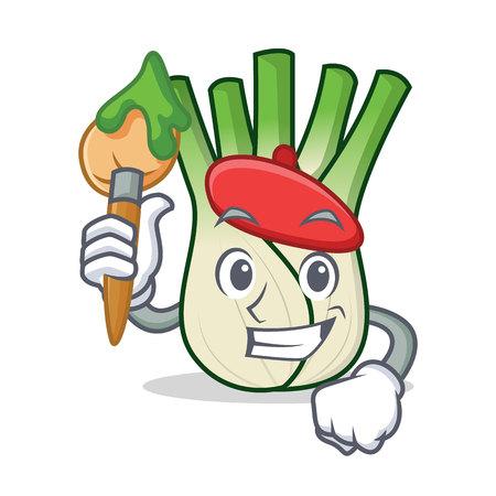 Artist fennel character cartoon style Ilustração