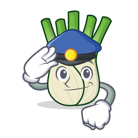 Police fennel character cartoon style vector illustration
