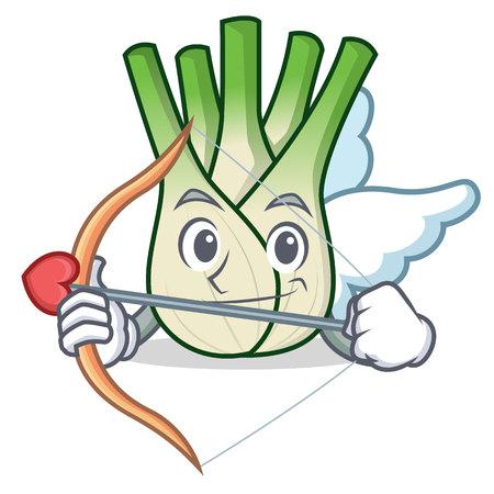 Cupid fennel character cartoon style.