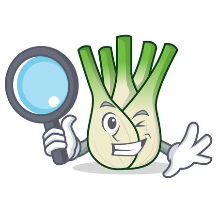 Detective fennel character cartoon style vector illustration Illustration