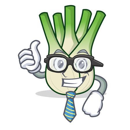 Businessman fennel character cartoon style