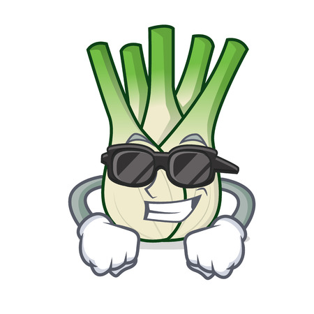 Super cool fennel character cartoon style