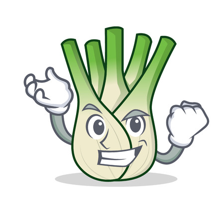 Successful fennel character cartoon style Illustration