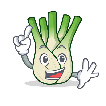 Finger fennel mascot cartoon style Illustration